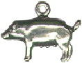Pig Charm 3D Sterling Silver Pendant