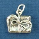 Scrapbook with Decorative Design 3D Sterling Silver Charm Pendant