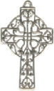 Cross with Filigree and Lace Design Sterling Silver Charm Pendant