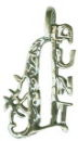 #1 Aunt Word Phrase Sterling Silver Charm Pendant