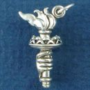Tour: Statue of Liberty's Torch 3D Sterling Silver Charm Pendant Patriotic Charm