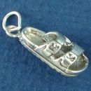 Ladies Open Toed Sandal Charm Type Shoe 3D Sterling Silver Pendant