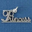 Princess Word Phrase Sterling Silver Charm Pendant
