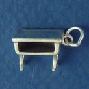School Desk Old Country Furniture 3D Sterling Silver Charm Pendant