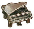 Music: Grand Piano 3D Sterling Silver Charm Pendant