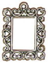 Picture Frame 3D Sterling Silver Charm Pendant