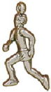 Jogger Running a Marathon Male 3D Sports Sterling Silver Charm Pendant