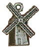 Windmill Holland Style 3D Sterling Silver Charm Pendant