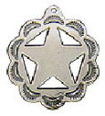 Cowboy Sherif's Star Badge Sterling Silver Charm Pendant