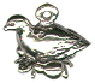 Christmas 12 Days: Partridge In Pear Tree 3D Sterling Silver Charm Pendant
