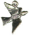 Christmas 12 Days: Calling Bird Sterling Silver Charm Pendant