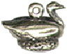 Christmas 12 Days: Geese a Laying 3D Sterling Silver Charm Pendant
