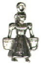 Christmas 12 Days: Maids Milking 3D Sterling Silver Charm Pendant