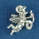 Cowboy Guardian Angel Charm Sterling Silver Pendant