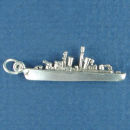Military: Navel Destroyer 3D Sterling Silver Charm Pendant