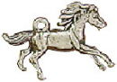 Horse Galloping 3D Sterling Silver Charm Pendant