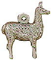 Llama 3D Sterling Silver Charm Pendant