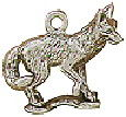 Fox 3D Sterling Silver Charm Pendant