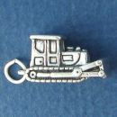 Bulldozer 3D Construction Equipment Sterling Silver Charm Pendant