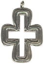 Cross Southwest Open Center Design Large Sterling Silver Charm Pendant