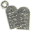 Religious Christian and Jewish 10 Commandments 3D Sterling Silver Charm Pendant