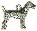 Dog, Airedale 3D Sterling Silver Charm Pendant
