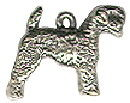 Dog, Giant Schnauzer 3D Sterling Silver Charm Pendant