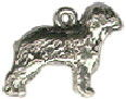 Old English Sheepdog Charm 3D in Sterling Silver