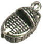 Baby In Basket Movable 3D Sterling Silver Charm Pendant