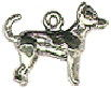Dog, Chihuahua 3D Sterling Silver Charm Pendant