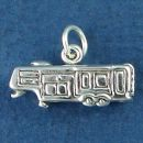Travel Trailer 5th Wheel Camper 3D Sterling Silver Charm Pendant