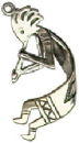 Indian Kokopelli 3D Sterling Silver Indian Charm Pendant