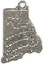State of Rhode Island Sterling Silver Charm