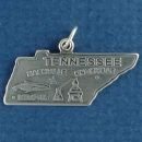 State of Tennessee Sterling Silver Charm Pendant and Cities Nashville, Memphis and Knoxville with Ear of Corn and Whiskey Distillery