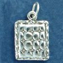 Quilt for Sewing Hobbie 3D Sterling Silver Charm Pendant