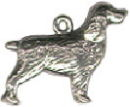 Dog, Spaniel 3D Sterling Silver Charm Pendant