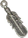 Feather Medium Sterling Silver Indian Charm Pendant