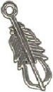 Feather American Indian Design Medium Sterling Silver Indian Charm Pendant