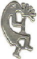 Indian Kokopelli Small Sterling Silver Indian Charm Pendant