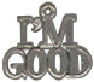 I'm Good Word Charm and Message Phrase Sterling Silver Charm Pendant for Charm Bracelet