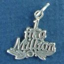 1 in a Million Word Phrase Sterling Silver Charm Pendant