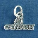 Number 1 Coach Charm Sterling Silver