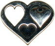 Heart Pendant with Cutout Heart Sterling Silver Charm