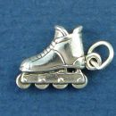 Rollerblade Inline Skate 3D Sterling Silver Charm Pendant