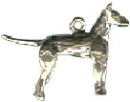 Dog: Russell Terrier 3D Sterling Silver Charm Pendant