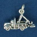 Tow Truck 3D Wrecker Driver Sterling Silver Charm Pendant