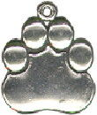 Paw Charm Sterling Silver Large