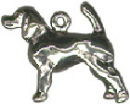 Dog, Spaniel,3D Sterling Silver Charm