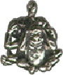 Monkeys 3 See No Evil 3D Sterling Silver Charm Pendant