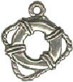 Life Preserver from Ship Nautical 3D Sterling Silver Charm Pendant